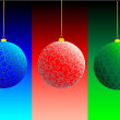 Colored christmas balls — Stock Vector