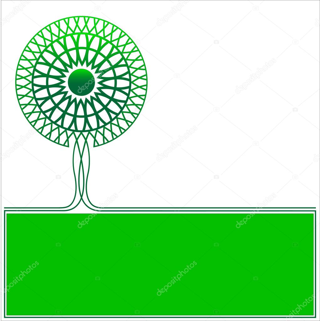Vector logo ecology tree — Stock Vector #7298509