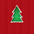Christmas tree torn paper - Stock Vector