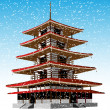 Pagoda winter - Vettoriali Stock