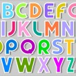 Multicolor Alphabet Stickers — Stock Vector