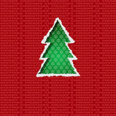 Christmas tree torn paper — Stock Vector