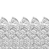Flower black and white design — Stock Vector