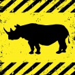 Background with rhino — Stock Vector #7842556