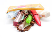 The lady's bag with cosmetic — Stock Photo