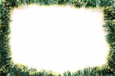 The frame made from the Christmas garland — Stock Photo