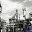 Stock Photo: Refinery workers and industry