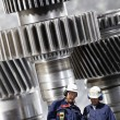 Engineering and steel workers — Stock Photo