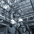 Stock Photo: Oil and gas, refinery works