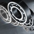 Ball bearings and titanium - Stock Photo