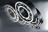 Ball bearings and titanium — Stock Photo