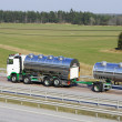 Fuel truck on the move - Stock Photo