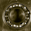Royalty-Free Stock Photo: Ball bearing and steel background