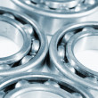 Ball bearings set against white background — Stock Photo #7734925