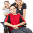 Disabled Boy and Siblings — Foto Stock