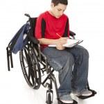 Disabled School Boy — Stock Photo
