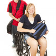 Disabled Student and Brother — Stock Photo