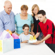 Stock Photo: Family Birthday Celebration