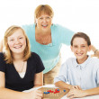 Family Fun and Games — Stock Photo
