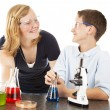 Stock Photo: Kids Having Fun with Science