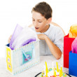 Stock Photo: Opening Birthday Presents