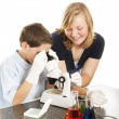 Science Kids Working Together — Stock Photo #6778183