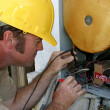 Stock Photo: Air Conditioning RepairmWorking