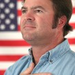 Stock Photo: American Man Patriotic