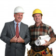 Stock Photo: Engineer & Contractor