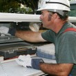 Stock Photo: Electrician Service Truck