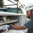 Electrician Service Truck — Stock Photo