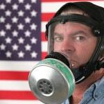 American Gas Mask Horizontal — Stock Photo #6779006