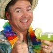 Margarita Party Face - Stock Photo