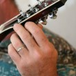 Tuning Mandolin — Stock Photo