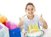 Birthday Boy Thumbsup — Stock Photo