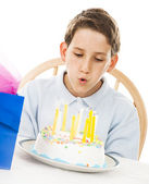 Blowing Out Candles — Stock Photo