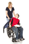 Disabled Boy and Friend — Stock Photo