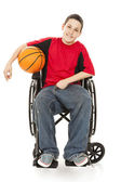 Disabled Teen Athlete — Stock Photo