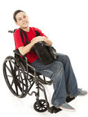 Disabled Teen Boy Full Body — Stock Photo