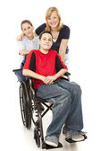 Group of Kids - One Disabled — Stock Photo