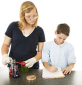 Kids Science Project — Stock Photo