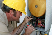 Air Conditioning Repairman Working — 图库照片