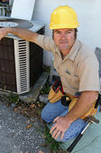 Competent AC Repairman — Stock Photo