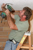 Electrician With Drill — Stock Photo