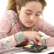 Teen Doing Homework — Stock Photo