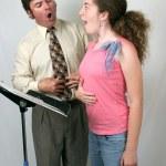 Voice Lesson Diaphragm — Stock Photo