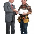Architect and Contractor — Stock Photo