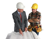 Laying Out the Job — Stock Photo