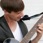 Blues Guitarist Closeup — Stock Photo #6800560