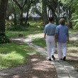 Stock Photo: Lovers On Garden Path